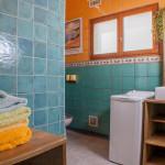 salle de bain de la cabane de Lautrec location à Claouey