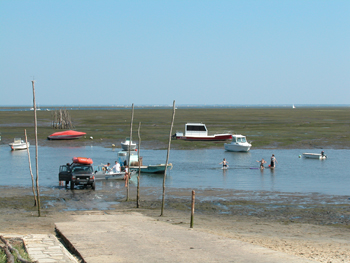 La cale à bateaux de Claouey avant travaux