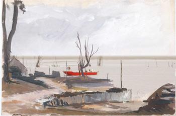 port claouey esquisse annees 60