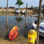 Balade en kayak au port de Piraillan